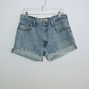 Levi 505 Womens Vintage Denim Jean Shorts Size 34